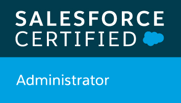 Salesforce Certified Admin badge